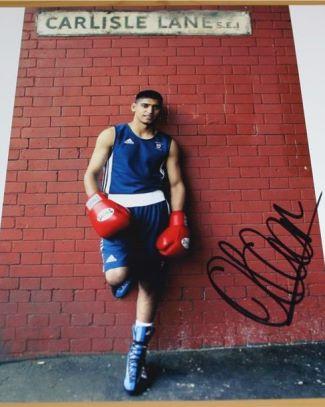 amir khan hand signed autographed photo