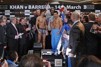 amir khan weigh-in underwear vs barrera