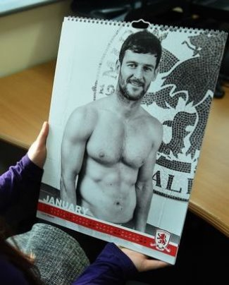 david nugent shirtless calendar middlesbrough fc