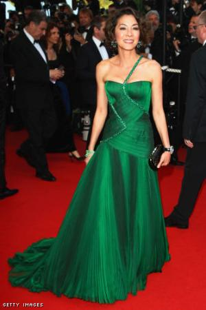 michelle yeoh red carpet dresses green versace