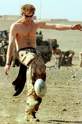 prince harry shirtless playing with balls