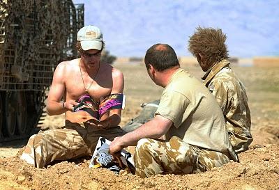 prince harry shirtless Afghanistan