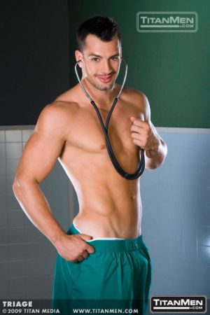 hot argentine men marco blaze as a shirtless doctor
