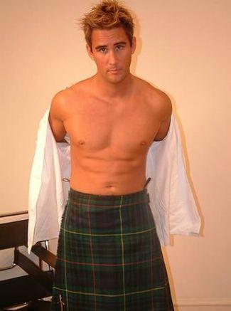 steve hooper lawyer male model wearing kilt