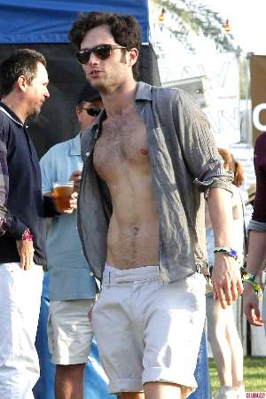 penn badgley shirtless