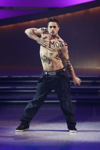 Nico Archambault shirtless dancer