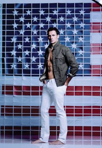 ryan lochte in calvin klein for macys american icons campaign