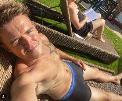 tom fletcher underwear shirtless body