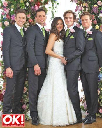 tom fletcher wedding - mcfly groomsmen