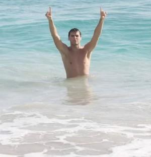 Yoann Gourcuff shirtless