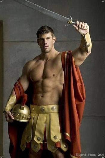 zeb atlas muscle hunk as roman gladiator