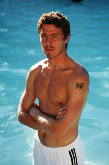 marat safin young - shirtless and tattoo