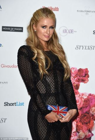 paris hilton see through dress - black2