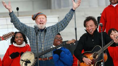 pete seeger obama inauguration with bruce springsteen