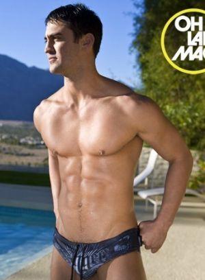 Johnny Markoudakis modeling bikini swimsuit