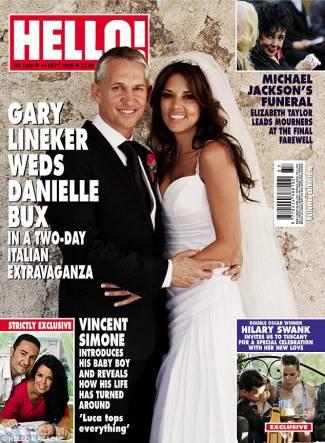 danielle bux underwear model marries gary lineker - wedding photos