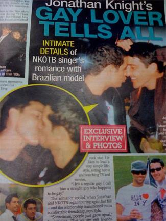 kyle wilker jonathan knight gay relationship - gay lovers