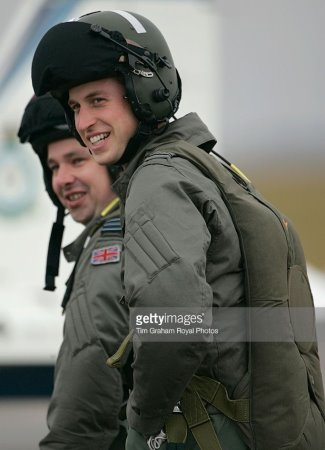 prince william pilot suit