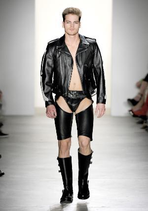 travis hanson underwear leather runway
