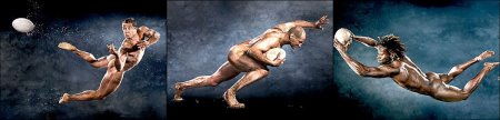 rugby players in the buff - Paul Sackey, Steve Borthwick and Shane Williams naked for powerade
