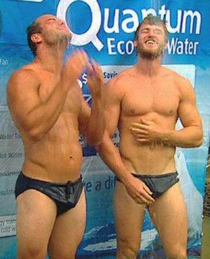 brett stewart shirtless shower with david williams