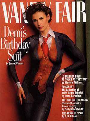 demi moore birthday suit body painting