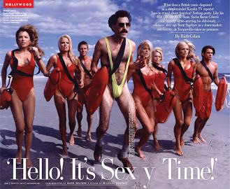 famous men wearing mankini - borat