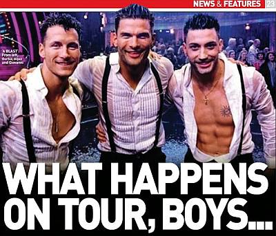 here come the boys tour - strictly dancers