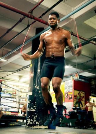 usher underwear working out