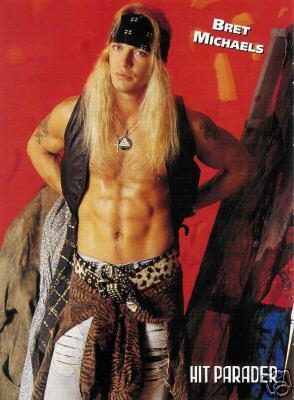 Brett Michaels shirtless hot hunk
