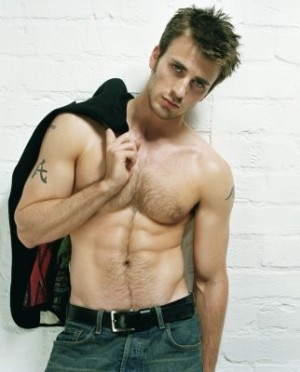 mens treasure trail sexy chris evans