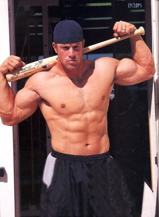 Gabe Kapler shirtless washboard abs