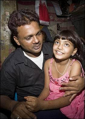Rafiq Qureshi father of Slumdog actor Rubina Ali