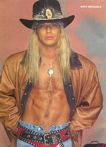 bret michaels abs shirtless body