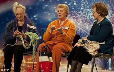 funny britains got talent Knit 'n' Natter