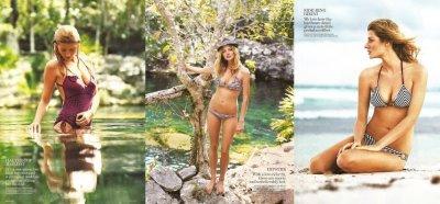 hot two-piece bikini models - lucky magazine