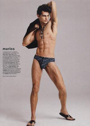 greek male underwear model marios lekkas briefs