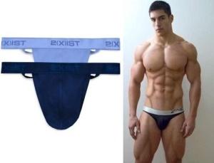men in thongs underwear - 2xist male model