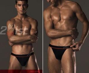 men in thongs underwear - 2xist model hunk