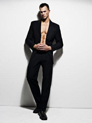 tyler davin male model suit