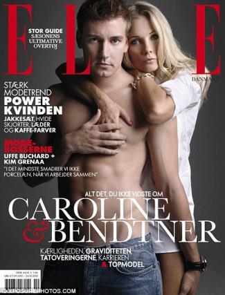 Nicklas Bendtner shirtless - elle magazine cover