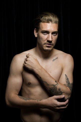 Nicklas Bendtner shirtless hot body