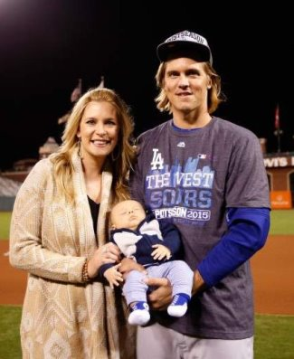 zack greinke family wife and son bode