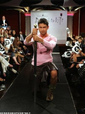Gerard Butler Kilt Model
