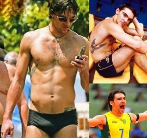 hot male volleyball players speedo hunk