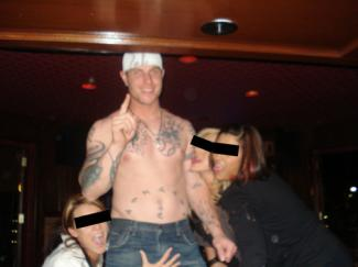 josh hamilton shirtless and drunk