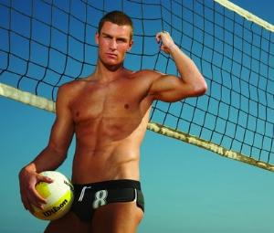 hot male volleyball players in speedo