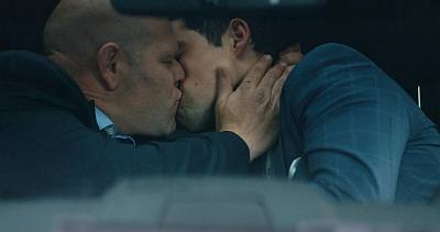 ben hollingsworth gay kiss in cold pursuit