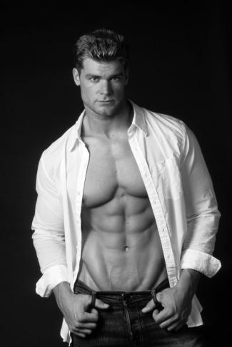 men with six pack abs - brandon miles white