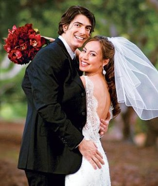 brandon routh married to wife courtney ford - wedding photo